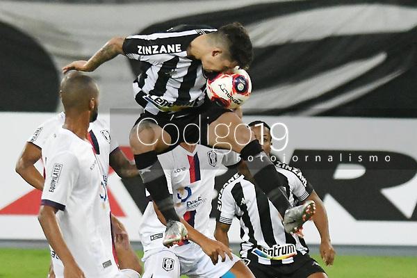 Rio de Janeiro (RJ), 07/03/2021 - Botafogo-Resende - Bruno Nazario jogador do Botafogo,durante partida contra o Resende,válida pela 2ª rodada da Taça Guanabara,realizada no Estádio Nilton Santos (Engenhão), na zona norte do Rio de Janeiro,neste domingo (07).