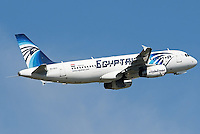 Pictured: The Airbus A320-232, stock picture dated May 2016 at Budapest Airport<br /> Re: EgyptAir Flight 804 (MS804/MSR804) is an international passenger flight operated by EgyptAir that went missing on 19 May 2016 at 02:45 local time.Egyptian authorities have stated that the plane most likely crashed into the sea. A multinational search and rescue operation is underway.<br /> The aircraft involved was an Airbus A320-232