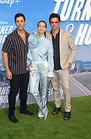 "LOS ANGELES - JUL 15:  Josh Peck, Lyndsy Fonseca, John Stamos at Disney+ ""Turner & Hooch"" Premiere Event at Westfield Century City Mall on July 15, 2021 in Century City, CA"