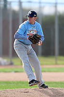 January 17, 2010:  Tate Parrish (Smithfield, NC) of the Baseball Factory Coastal Team during the 2010 Under Armour Pre-Season All-America Tournament at Kino Sports Complex in Tucson, AZ.  Photo By Mike Janes/Four Seam Images