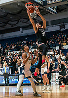 WASHINGTON, DC - JANUARY 29: Kellan Grady #31 of Davidson goes up for a basket during a game between Davidson and George Wshington at Charles E Smith Center on January 29, 2020 in Washington, DC.
