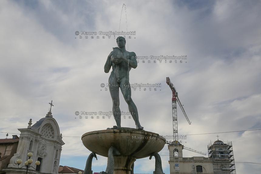 2019. l'Aquila dieci anni dopo il terremoto del 2009 Centro storico Piazza del Duomo