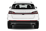 Straight rear view of 2021 Lincoln Nautilus Standard 5 Door SUV Rear View  stock images