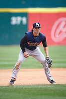 Scranton/Wilkes-Barre RailRiders third baseman Pete Kozma (7) during a game against the Buffalo Bisons on July 2, 2016 at Coca-Cola Field in Buffalo, New York.  Scranton defeated Buffalo 5-1.  (Mike Janes/Four Seam Images)
