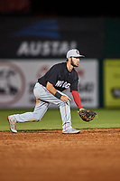 Chattanooga Lookouts second baseman Alex Perez (2) during a game against the Mobile BayBears on May 5, 2018 at Hank Aaron Stadium in Mobile, Alabama.  Chattanooga defeated Mobile 11-5.  (Mike Janes/Four Seam Images)