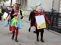Pantomime dames and various backroom staff and freelancers march to Parliament in Westminster in call for action to save theatre in London. September 30th 2020<br /> <br /> Photo by Keith Mayhew