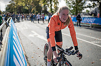 silver medalist Shirin van Anrooij<br /> post-race moments at the Women Junior Individual Time Trial<br /> <br /> 2019 Road World Championships Yorkshire (GBR)<br /> <br /> ©kramon