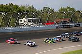 #4: Kevin Harvick, Stewart-Haas Racing, Ford Mustang Busch Light Apple, #11: Denny Hamlin, Joe Gibbs Racing, Toyota Camry FedEx Ground