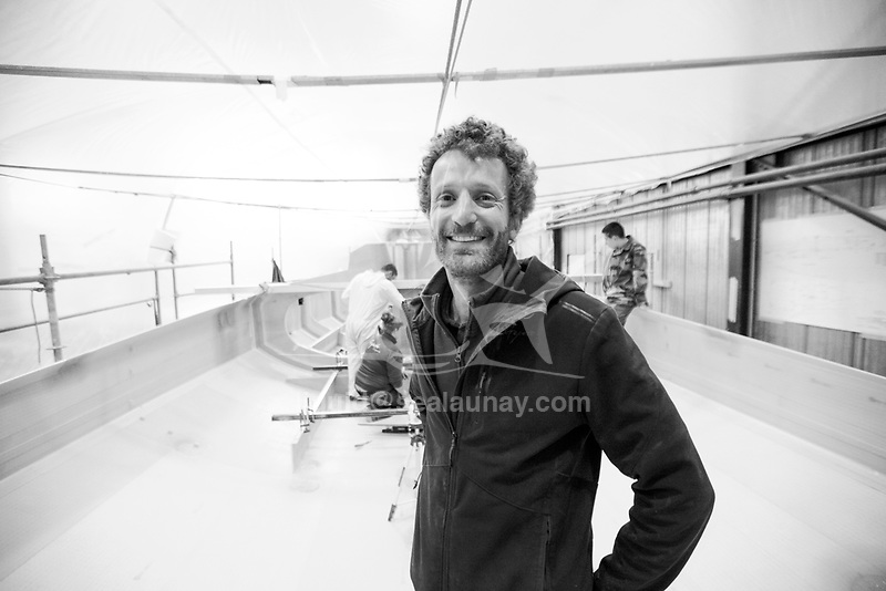 Gautier Nollet from Gepeto Composites capitalising on their expertise in composite boat building for high-tech racing yachts.<br />Gepeto Composites is based in Lorient Keroman Submarine Base, Brittany, France.