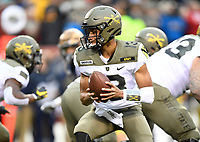 PHILADELPHIA, PA - DEC 14, 2019: Army Black Knights quarterback Christian Anderson (13) in action during game between Army and Navy at Lincoln Financial Field in Philadelphia, PA. The Midshipmen defeated Army 31-7. (Photo by Phil Peters/Media Images International)