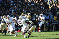 South Bend, IN - OCTOBER 4:  Kicker David Green #38 of the Stanford Cardinal during Stanford's 28-21 loss against the Notre Dame Fighting Irish on October 4, 2008 at Notre Dame Stadium in South Bend, Indiana.