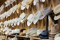 Store cowboy hat display.