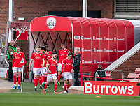 20th March 2021, Oakwell Stadium, Barnsley, Yorkshire, England; English Football League Championship Football, Barnsley FC versus Sheffield Wednesday; Barnsley team is out of the tunnel