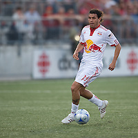 24 June2009: New York Red Bulls midfielder Jorge Rojas #13 in action at BMO Field in Toronto, in a game between the New York Red Bulls and Toronto FC. Toronto FC won 2-0..