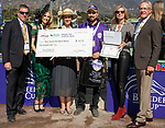 November 2, 2019: Connections for Belvoir Bay, winner of the Breeders' Cup Turf Sprint on Breeders' Cup World Championship Friday at Santa Anita Park on November 2, 2019: in Arcadia, California. Bill Denver/Eclipse Sportswire/CSM