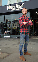 Pictured: Leon Britton Friday 17 February 2017<br />Re: Swansea footballer Leon Britton at the official opening of German Doner Kebab restaurant in the Uplands area of Swansea, Wales, UK.