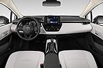 Stock photo of straight dashboard view of 2020 Toyota Corolla LE 4 Door Sedan Dashboard