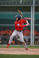Boston Red Sox Cole Brannen (31) bats during a Minor League Spring Training game against the Baltimore Orioles on March 20, 2019 at the Buck O'Neil Baseball Complex in Sarasota, Florida.  (Mike Janes/Four Seam Images)