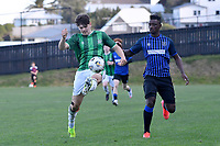 Ashlen Stroud of the Wainuiomata AFC during the Central League Football - Miramar Rangers AFC v Wainuiomata AFC at David Farrington Park, Wellington, New Zealand on Saturday 17 April 2021.<br /> Copyright photo: Masanori Udagawa /  www.photosport.nz