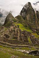 Classic view of Machu Picchu