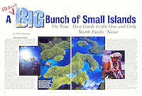"DIVE TRAVEL Magazine - ""Micronesia"" Article - Photography by Dale Sanders."