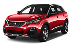 2018 Peugeot 3008 Allure 5 Door SUV angular front stock photos of front three quarter view