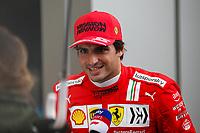 25th September 2021; Sochi, Russia; F1 Grand Prix of Russia  qualifying sessions;  55 Carlos Sainz ESP, Scuderia Ferrari Mission Winnow takes 2nd on pole