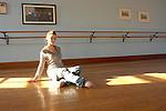 Female dancer in the dance studio.