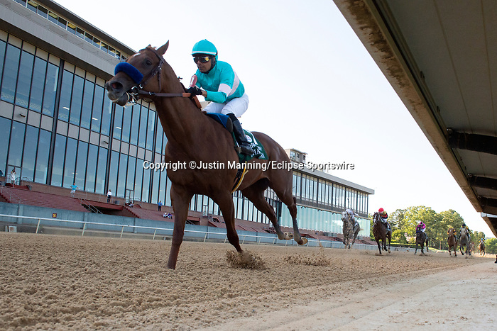 May 2, 2020: Charlatan (1) with jockey Martin Garcia aboard during the 1st division of the Arkansas Derby at Oaklawn Racing Casino Resort in Hot Springs, Arkansas on May 2, 2020. Justin Manning/Eclipse Sportswire/CSM
