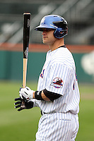 Buffalo Bisons outfielder Jason Botts #34 at bat during a game against the Charlotte Knights at Dunn Tire Park on May 22, 2011 in Buffalo, New York.  Buffalo defeated Charlotte by the score of 7-5.  Photo By Mike Janes/Four Seam Images