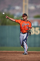 San Francisco Giants Kevin Rivera (19) during an instructional league game against the Kansas City Royals on October 23, 2015 at the Papago Baseball Facility in Phoenix, Arizona.  (Mike Janes/Four Seam Images)