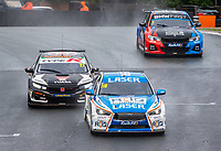 23rd August 2020; Oulton Park Circuit, Little Budworth, Cheshire, England; Kwik Fit British Touring Car Championship, Oulton Park, Race Day; Eventual winner,   Ashley Sutton Laser Tools Racing driving a Infiniti Q50  gets past  Dan Cammish Halfords Yuasa Racing driving a Honda Civic Type R  in race 2