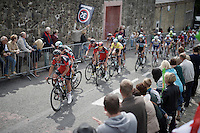 peloton in the local laps in Thuin<br /> <br /> Tour de Wallonie 2015<br /> stage 5: Chimay - Thuin (167km)
