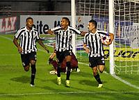 São Paulo (SP), 28/02/2021 - Santo André-Santos - Jean Mota, comemora gol do Santos. Partida entre Santo André e Santos válida pela primeira rodada do Campeonato Paulista neste domingo (28) no estádio do Canindé em São Paulo.