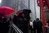 """New York, New York<br /> October 29, 2011<br /> <br /> The first snow and cold weather hit the """"Occupy Wall Street"""" protesters in Zuccuti Park. <br /> <br /> """"Occupy Wall Street"""" in Zuccutti Park is a movement against economic inequality, which began on September 17, 2011 and sparked protests nationwide and globally."""