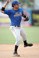 August 15, 2008: Luis Rivera (9) of the St. Lucie Mets at Jackie Robinson Ballpark in Daytona Beach, FL. Photo by: Chris Proctor/Four Seam Images