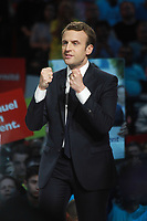 EMMANUEL MACRON - MEETING D'EMMANUEL MACRON A L'ACCORHOTEL ARENA BERCY A PARIS, LE 17/04/2017.