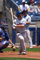 Midland RockHounds outfielder Matt Olson (21) at bat during a game against the Tulsa Drillers on June 3, 2015 at Oneok Field in Tulsa, Oklahoma.  Midland defeated Tulsa 5-3.  (Mike Janes/Four Seam Images)
