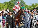 June 5, 2021: Domestic Spending, #4, ridden by jockey Flavien Prat, wins the Resorts World Casino Manhatten Stakes on Belmont Stakes Day at the Belmont Stakes Festival at Belmont Park in Elmont, New York. Sue Kawczynski/Eclipse Sportswire/CSM