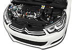 Car Stock 2016 Citroen C4 Feel 5 Door Hatchback Engine  high angle detail view