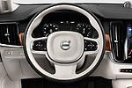 Car pictures of steering wheel view of a 2019 Volvo S90 T6 Inscription 4 Door Sedan