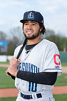 Lake County Captains infielder Marcos Gonzalez (10) poses for a photo before a Midwest League game against the Beloit Snappers at Harry C. Pohlman Field on May 6, 2019 in Beloit, Wisconsin. (Zachary Lucy/Four Seam Images)