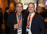 Guest and Dr Mark Fulcher. Official Draw for the FIFA U 20 Football World Cup, New Zealand 2015. Sky City, Auckland. Tuesday 10 February 2015. Copyright photo: Andrew Cornaga / www.photosport.co.nz