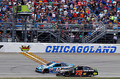 Monster Energy NASCAR Cup Series<br /> Tales of the Turtles 400<br /> Chicagoland Speedway, Joliet, IL USA<br /> Sunday 17 September 2017<br /> Martin Truex Jr, Furniture Row Racing, Furniture Row/Denver Mattress Toyota Camry drives under the checkered flag to win<br /> World Copyright: Russell LaBounty<br /> LAT Images