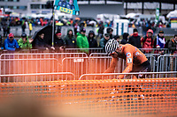a supreme Mathieu van der Poel (NED) solo to victory and a well deserved rainbow jersey.<br /> <br /> Men's Elite race<br /> UCI 2020 Cyclocross World Championships<br /> Dübendorf / Switzerland<br /> <br /> ©kramon