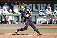 CHAPEL HILL, NC - MARCH 08: Zack Prajzner #14 of the University of Notre Dame hits the ball during a game between Notre Dame and North Carolina at Boshamer Stadium on March 08, 2020 in Chapel Hill, North Carolina.