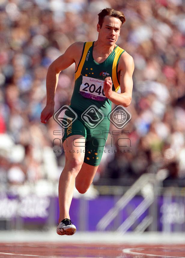 Evan O'Hanlon (AUS)  heats<br /> Athletics: Men's 200m T-38<br /> Olympic Stadium (Friday 7 Sept)<br /> Paralympics - Summer / London 2012<br /> London England 29 Aug - 9 Sept <br /> © Sport the library / Jeff Crow