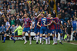 Sheffield Wednesday 2 Crystal Palace 2, 02/05/2010. Hillsborough. Championship. Crystal Palace players congratulating Alan Lee for scoring the game's opening goal at Hillsborough during the crucial last-day relegation match against Sheffield Wednesday. The match ended in a 2-2 draw which meant Wednesday were relegated to League 1. Crystal Palace remained in the Championship despite having been deducted 10 points for entering administration during the season. Photo by Colin McPherson.