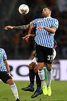 Andrea Petagna of SPAL , Stefano Denswil of Bologna FC <br /> Bologna 30/08/2019 Stadio Renato Dall'Ara <br /> Football Serie A 2019/2020 <br /> Bologna FC - SPAL<br /> Photo Andrea Staccioli / Insidefoto