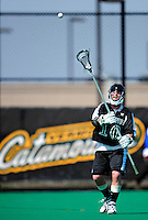 3 April 2010: Binghamton University Bearcats' Defenseman Aaron Kennedy, a Senior from Loudonville, NY, in action against the University of Vermont Catamounts at Moulton Winder Field in Burlington, Vermont. The Catamounts defeated the visiting Bearcats 11-8 in Vermont's opening home game of the 2010 season. Mandatory Credit: Ed Wolfstein Photo
